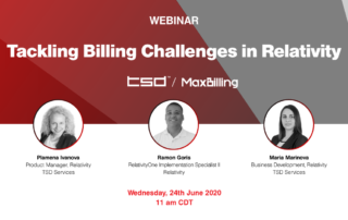 Tackling Billing Challenges in Relativity webinar