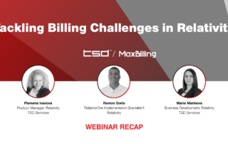 Tackling Billing Challenges in Relativity webinar recap