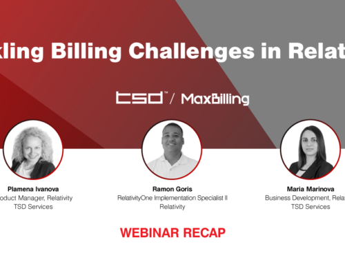 Webinar Recap: Tackling Billing Challenges in Relativity